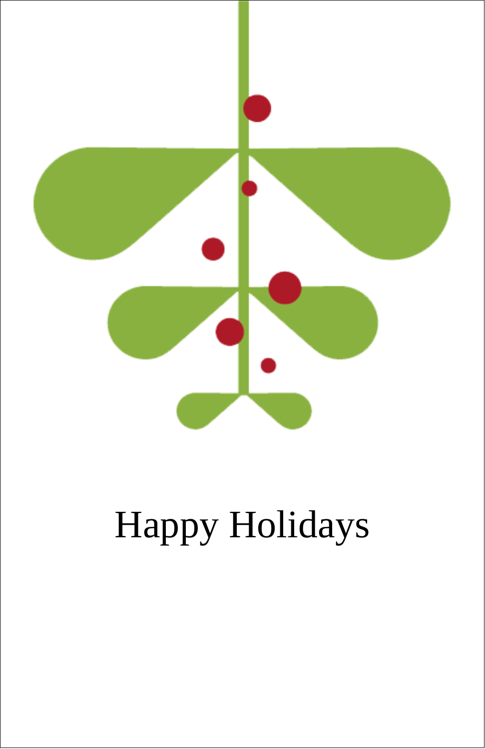"5"" x 8½"" Half Fold Card - Simple Mistletoe"