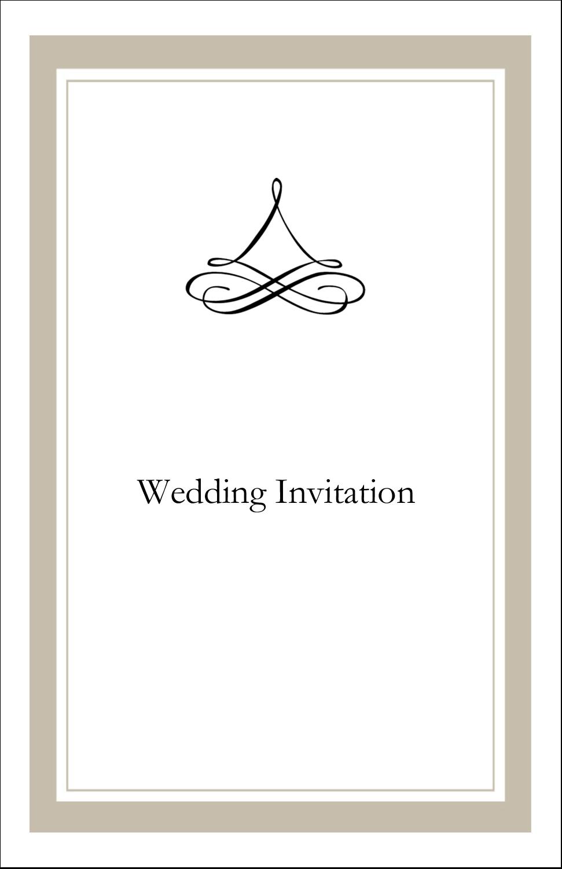 """5"""" x 8½"""" Half Fold Card - Simple Wedding"""