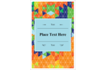 Turn your eye to the colourful kaleidoscope template.