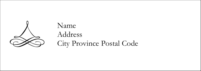 "2-13/16"" x 1"" Mailing Label - Simple Wedding"