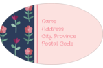 Pluck one of these Dainty Floral templates perfect for birth announcements!