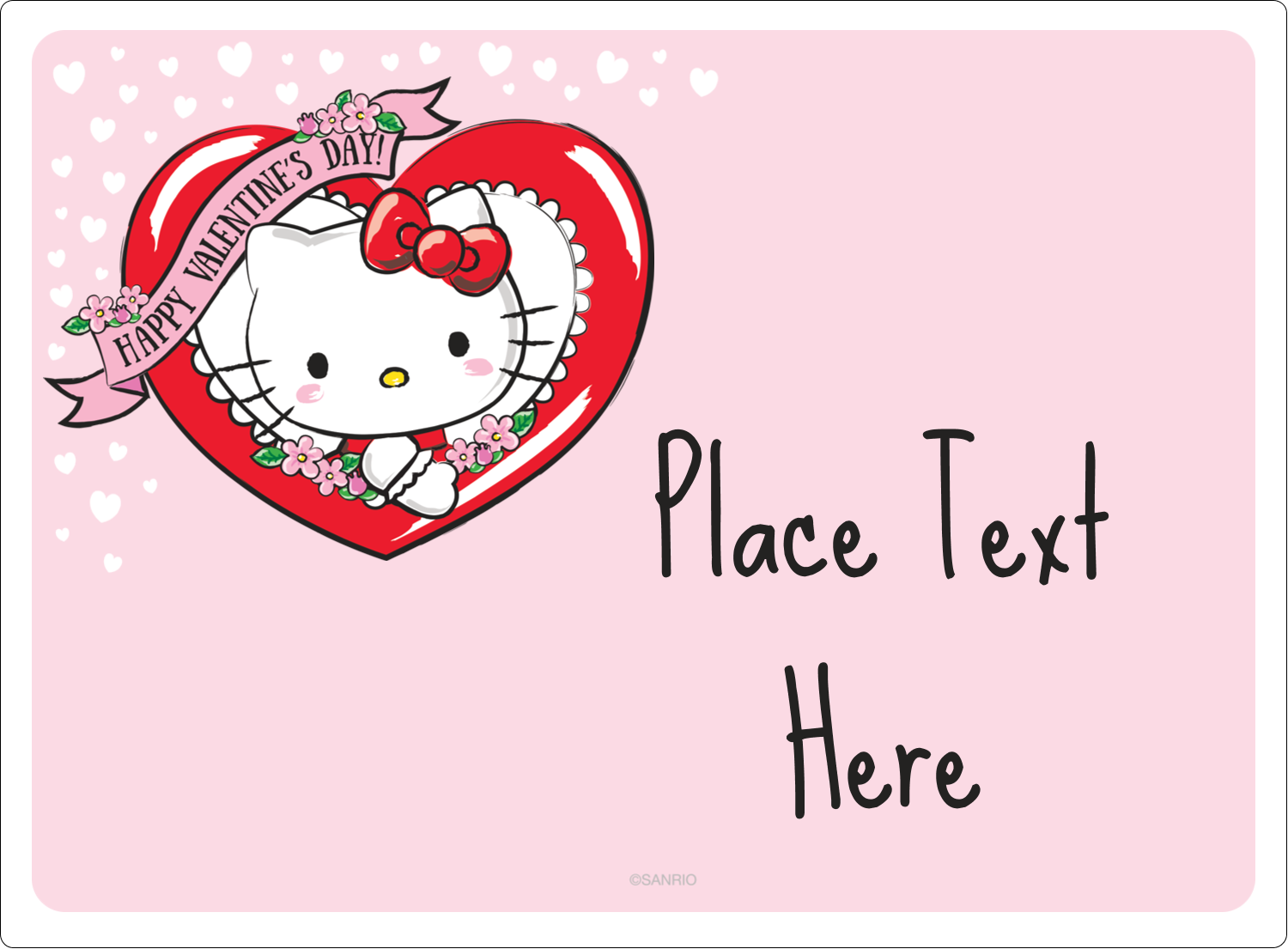 Hello Kitty Templates Hello Kitty Valentine Labels And Cards Avery