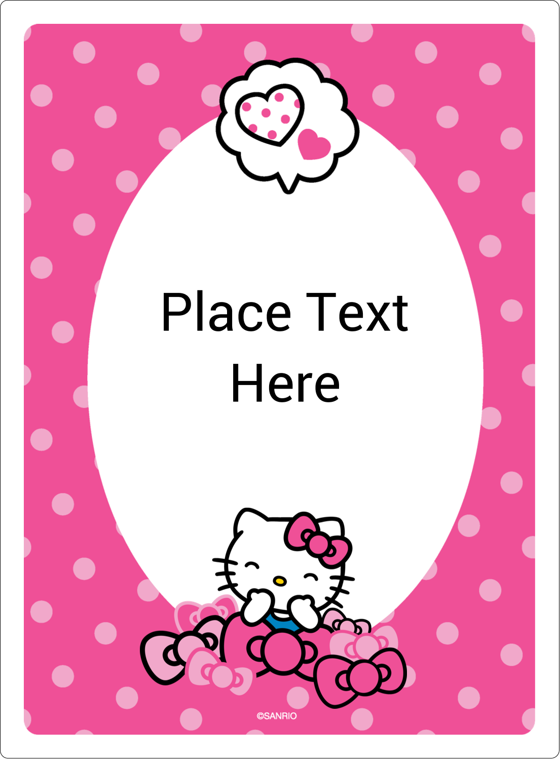 "4¾"" x 3½"" Rectangular Label - Hello Kitty Giggles"