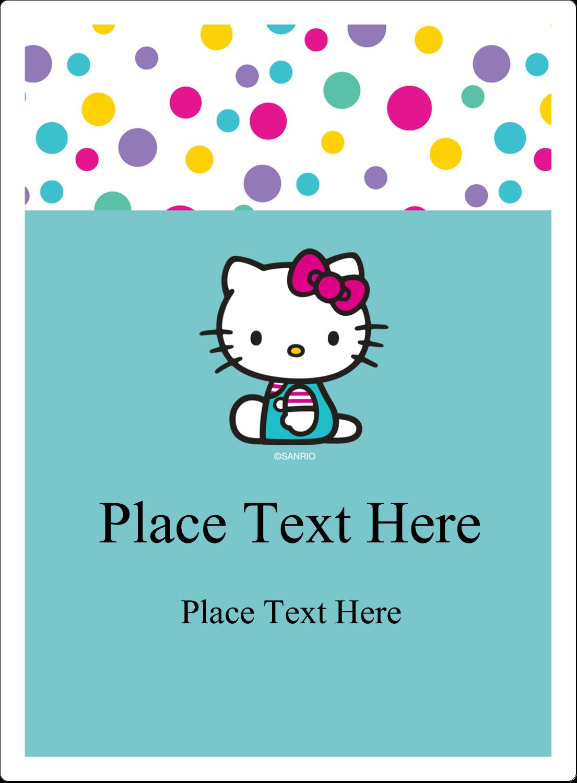 "4¾"" x 3½"" Rectangular Label - Hello Kitty Party"