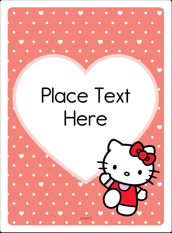 "4¾"" x 3½"" Rectangular Label - We love Hello Kitty"