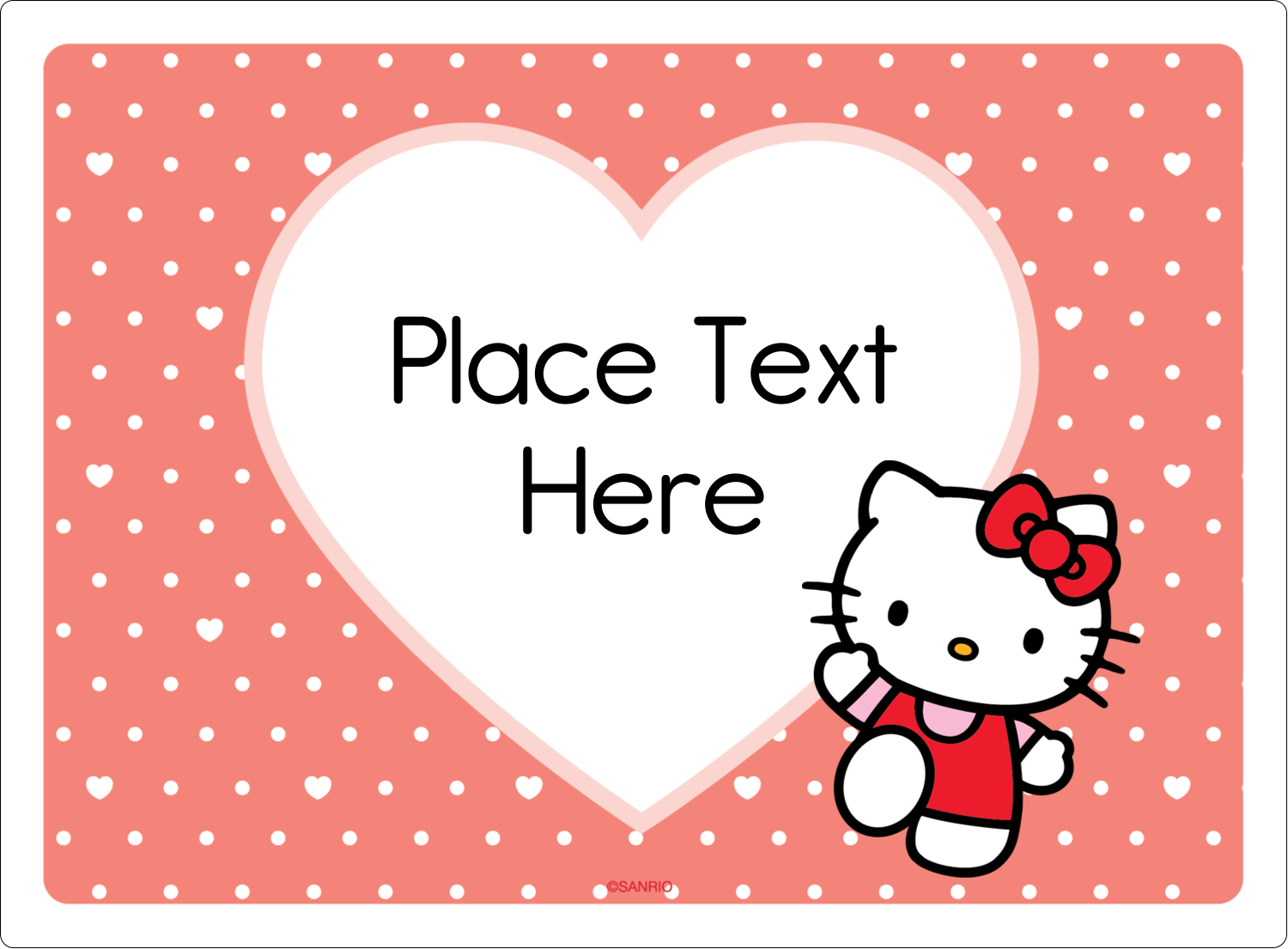 "3½"" x 4¾"" Rectangular Label - We love Hello Kitty"