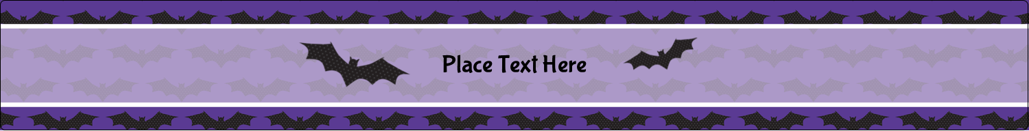 "9¾"" x 1¼"" Wraparound Label - Halloween Bats"