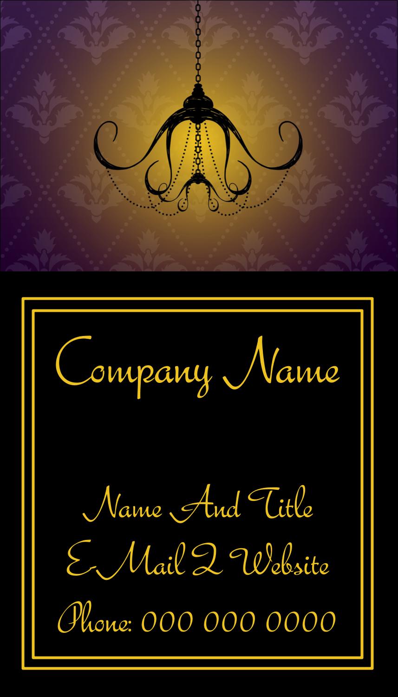 "3½"" x 2"" Business Card - Halloween Elegant Creepy Chandelier"