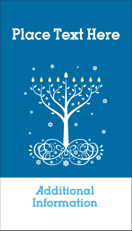 "3½"" x 2"" Business Card - Hanukkah Tree"
