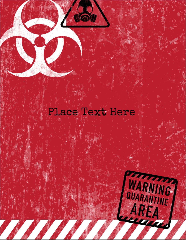 "5½"" x 4¼"" Postcard - Halloween Zombie Apocalypse"