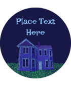Bring spooky fun to projects with customizable Halloween Haunted House Chalk templates.