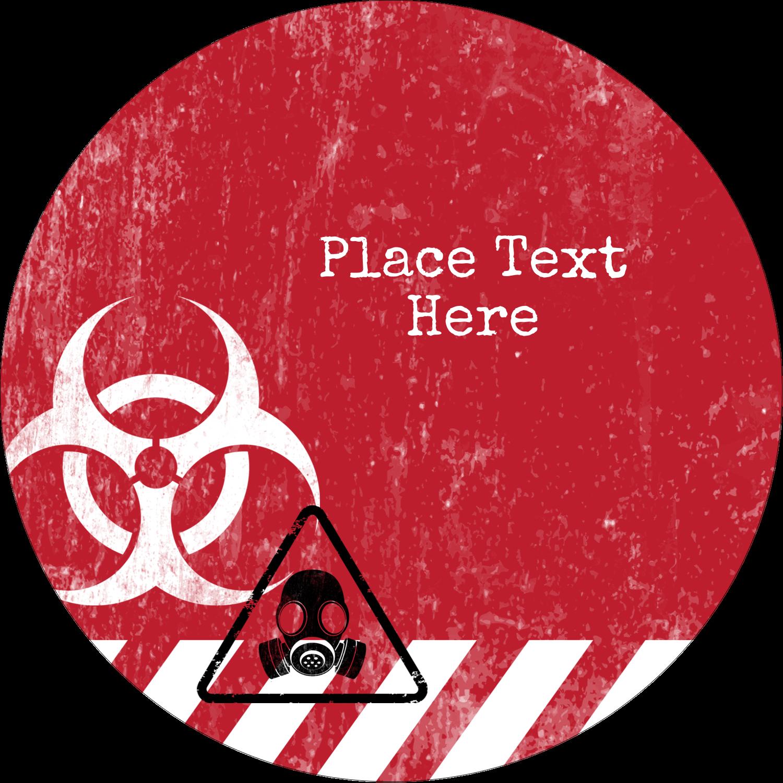 """3"""" Round Label - Halloween Zombie Apocalypse"""