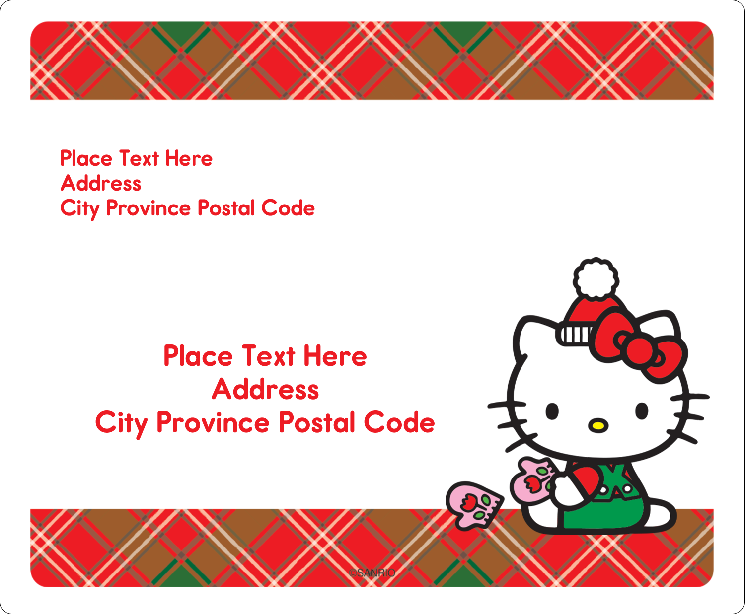 """3⅓"""" x 4"""" Shipping Label - Warm Holiday Wishes"""
