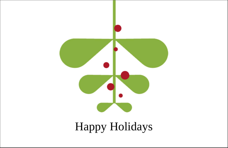 """5½"""" x 8½"""" Greeting Card - Simple Mistletoe"""