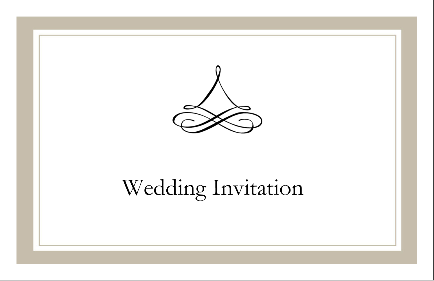 "5½"" x 8½"" Greeting Card - Simple Wedding"