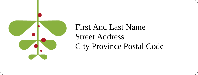 "1"" x 2⅝"" Address Label - Simple Mistletoe"