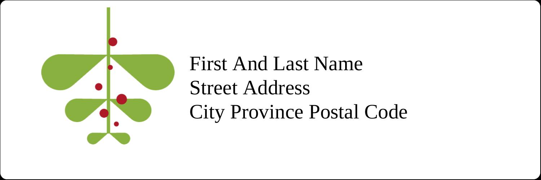 "1⅓"" x 4"" Address Label - Simple Mistletoe"