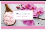 Glaçage et orchidée rose Cartes de souhaits pliées en deux - gabarit prédéfini. <br/>Utilisez notre logiciel Avery Design & Print Online pour personnaliser facilement la conception.