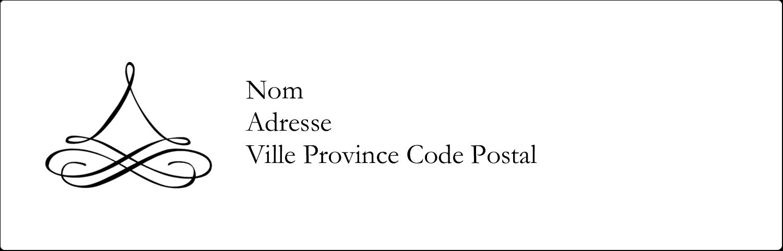 Mariage simple Étiquettes Thermiques - gabarit prédéfini. <br/>Utilisez notre logiciel Avery Design & Print Online pour personnaliser facilement la conception.