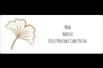 Ginkgo Étiquettes d'adresse - gabarit prédéfini. <br/>Utilisez notre logiciel Avery Design & Print Online pour personnaliser facilement la conception.