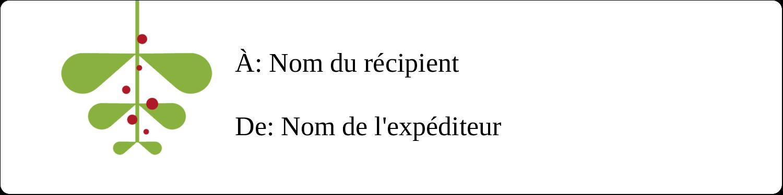 """1⅓"""" x 4"""" Étiquettes d'adresse - Branche de gui"""