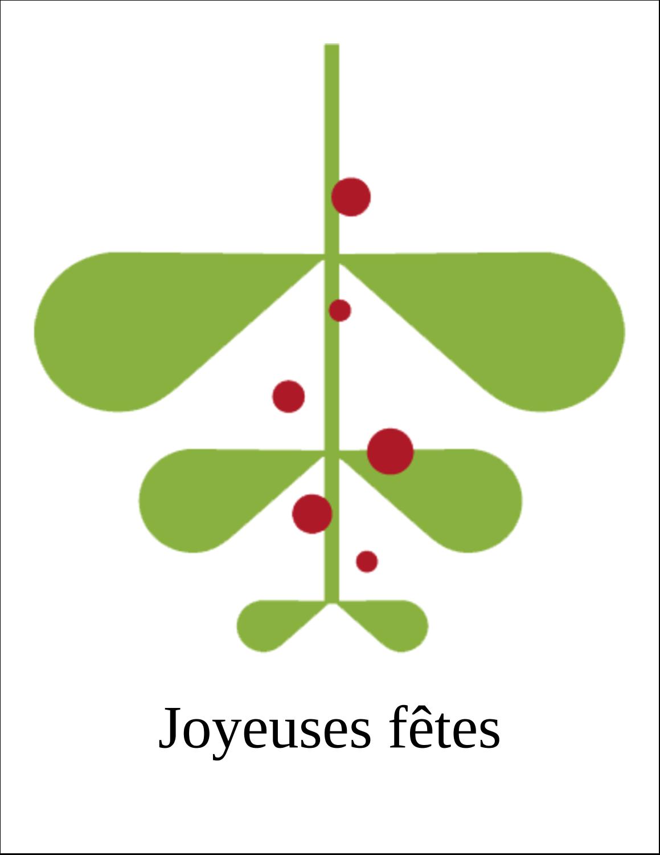 """5½"""" x 8½"""" Cartes Et Articles D'Artisanat Imprimables - Branche de gui"""