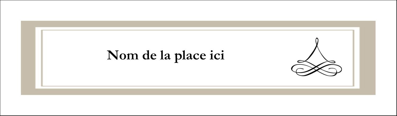 "3½"" x 11"" Affichette - Mariage simple"