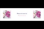 Glaçage et orchidée rose Affichette - gabarit prédéfini. <br/>Utilisez notre logiciel Avery Design & Print Online pour personnaliser facilement la conception.