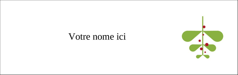 "4¼"" x 5½"" Carte de note - Branche de gui"