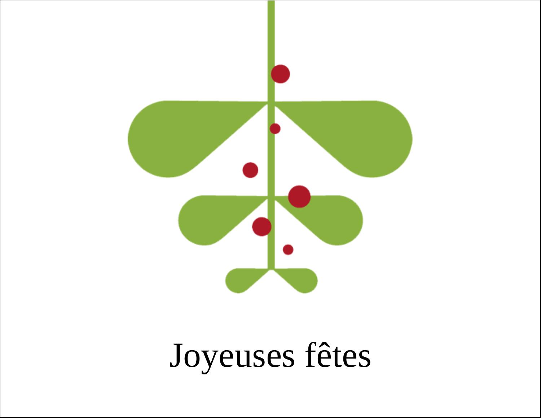 """8½"""" x 11"""" Cartes Et Articles D'Artisanat Imprimables - Branche de gui"""