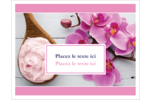 Glaçage et orchidée rose Cartes de notes - gabarit prédéfini. <br/>Utilisez notre logiciel Avery Design & Print Online pour personnaliser facilement la conception.