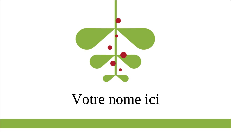 """2"""" x 3½"""" Carte d'affaire - Branche de gui"""