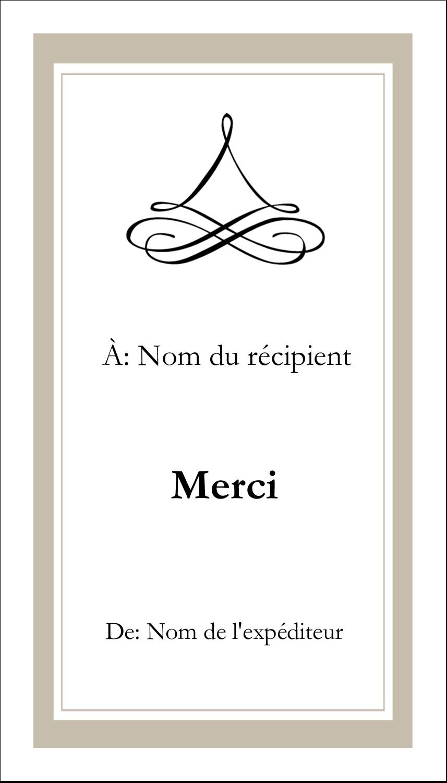 """2"""" x 3½"""" Carte d'affaire - Mariage simple"""