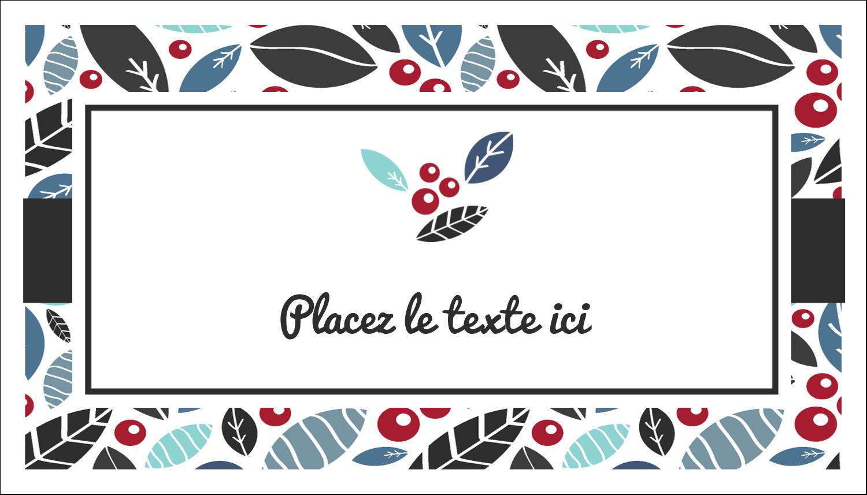 """2"""" x 3½"""" Carte d'affaire - Feuillu"""