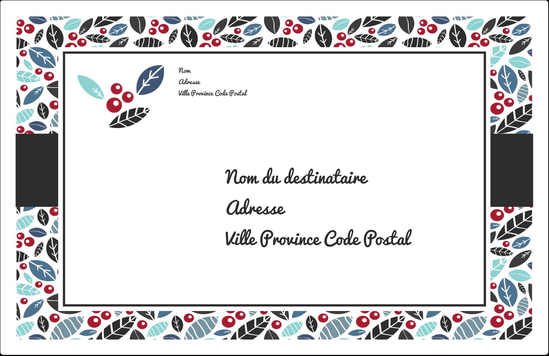 "1½"" x 4"" Étiquettes d'adresse - Feuillu"