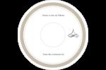 Mariage simple Étiquettes de classement - gabarit prédéfini. <br/>Utilisez notre logiciel Avery Design & Print Online pour personnaliser facilement la conception.