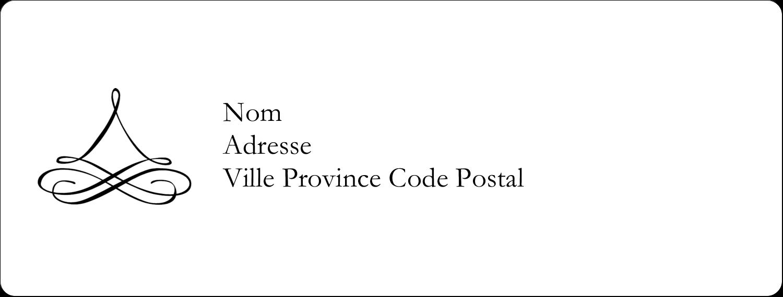 """4"""" x 1⅓"""" Étiquettes D'Adresse - Mariage simple"""