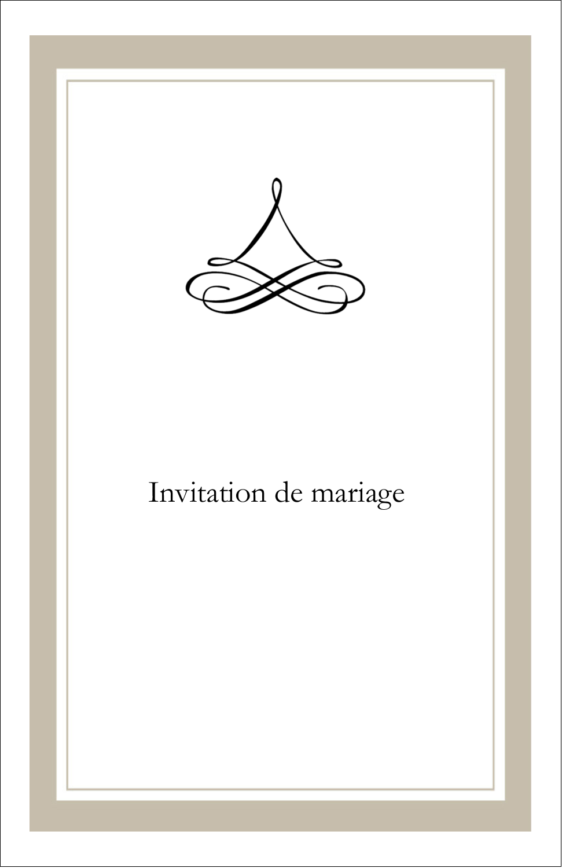 "8½"" x 11"" Binder Insert Reliures - Mariage simple"