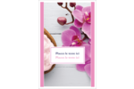 Glaçage et orchidée rose Cartes Et Articles D'Artisanat Imprimables - gabarit prédéfini. <br/>Utilisez notre logiciel Avery Design & Print Online pour personnaliser facilement la conception.
