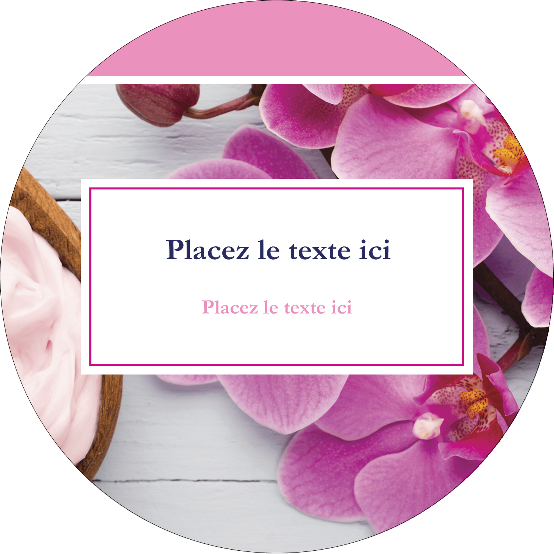 Glaçage et orchidée rose Étiquettes Voyantes - gabarit prédéfini. <br/>Utilisez notre logiciel Avery Design & Print Online pour personnaliser facilement la conception.