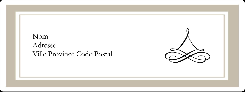 """1"""" x 2⅝"""" Étiquettes d'adresse - Mariage simple"""