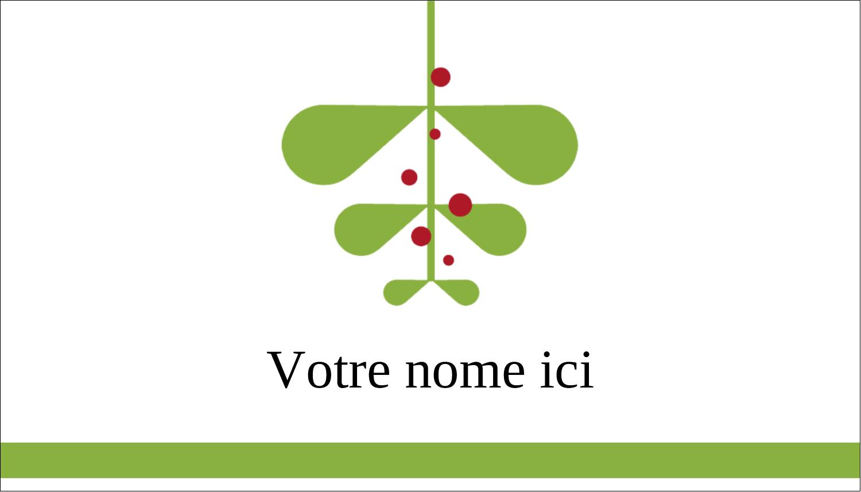 """3"""" x 5"""" Cartes Pour Le Bureau - Branche de gui"""