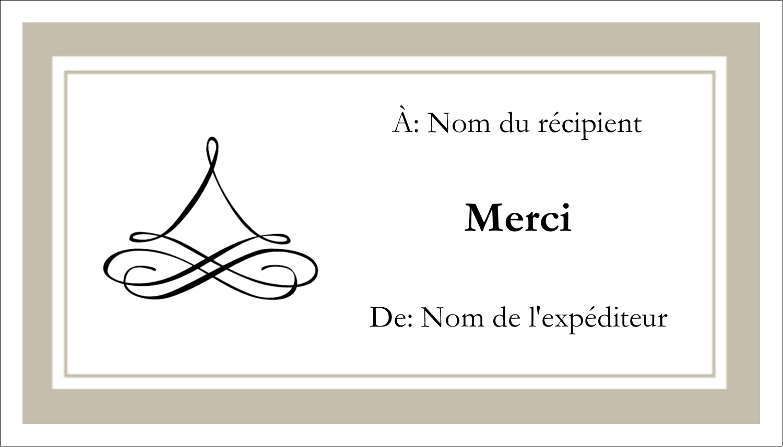 """3"""" x 5"""" Cartes Pour Le Bureau - Mariage simple"""