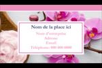 Glaçage et orchidée rose Carte d'affaire - gabarit prédéfini. <br/>Utilisez notre logiciel Avery Design & Print Online pour personnaliser facilement la conception.
