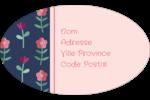 Fleurs délicates Étiquettes carrées - gabarit prédéfini. <br/>Utilisez notre logiciel Avery Design & Print Online pour personnaliser facilement la conception.