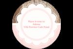 Dentelle sur bois Étiquettes rondes - gabarit prédéfini. <br/>Utilisez notre logiciel Avery Design & Print Online pour personnaliser facilement la conception.