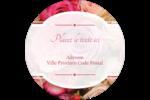 Bouquet de roses Étiquettes rondes - gabarit prédéfini. <br/>Utilisez notre logiciel Avery Design & Print Online pour personnaliser facilement la conception.