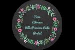 Craie florale Étiquettes rondes - gabarit prédéfini. <br/>Utilisez notre logiciel Avery Design & Print Online pour personnaliser facilement la conception.