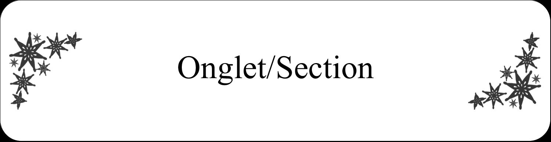 "8½"" x 11"" Intercalaires / Onglets - Angle étoilé"