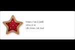 Biscuit en forme d'étoile Étiquettes d'adresse - gabarit prédéfini. <br/>Utilisez notre logiciel Avery Design & Print Online pour personnaliser facilement la conception.